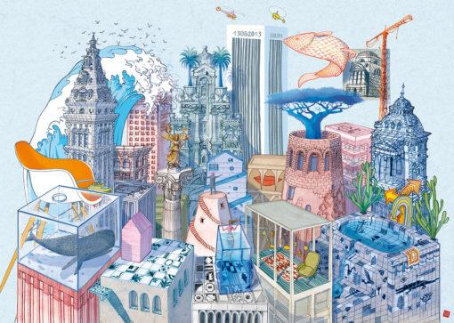 Città invisibili di Italo Calvino, illustrazione di Carlo Stanga